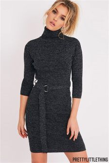 PrettyLittleThing Knitted Jumper Dress