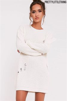 PrettyLittleThing Distressed Oversized Jumper Dress