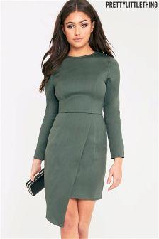 PrettyLittleThing Asymetric Denim Dress