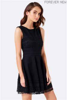 Forever New Lace Trim Dress