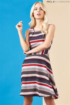 Mela Loves London Multi Print Dress