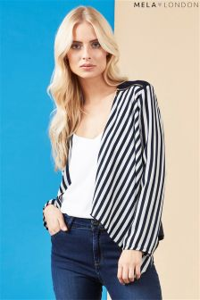 Mela Loves London Stripe Print Jacket