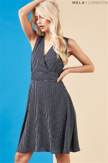 Mela London Wrap Front Dress