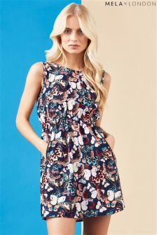 Mela London Butterfly Print Dress