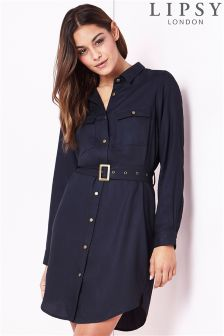 Lipsy Utility Shirt Dress