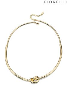 Fiorelli Costume Gold Knot Choker Necklace