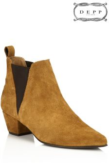 Depp Slip On Leather Boots