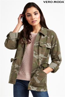 Vero Moda Camo Embroidered Jacket