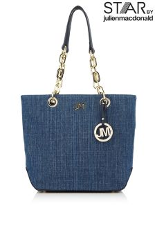 Star By Julien Macdonald Chain Detail Denim Shopper Bag
