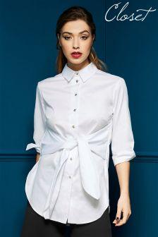 Closet Tie Front Blouse