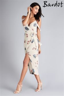 Bardot Floral Wrap Dress