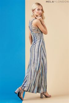 Mela London Vertical Print Maxi Dress