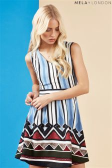 Mela London Bottom Border Skater Dress