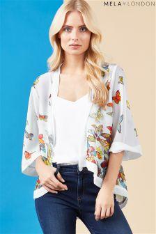 Mela London Butterfly Print Kimono