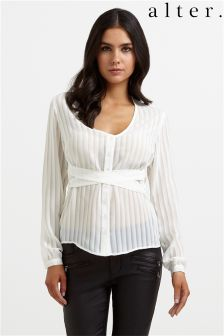 Alter Wrap Stripe Shirt