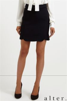 Alter Scalloped Mini Skirt