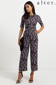 Alter Wrap Front Awkard Length Jumpsuit