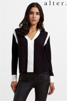 Alter Contrast Panel Shirt