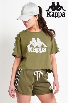Kappa Cropped Banda Taping Short Sleeve T-Shirt