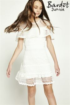 Bardot Junior Spot Mesh Geo Lace Dress