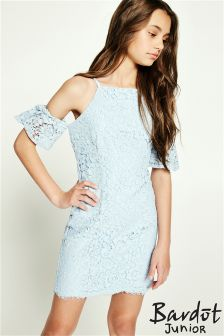 Bardot Junior Scallop Lace Trim Dress