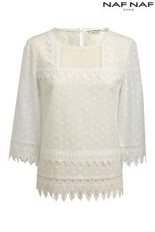 Na Naf Lace Detail Blouse