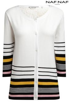 Naf Naf Striped Cardigan