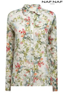 Naf Naf Graphic Flower Shirt