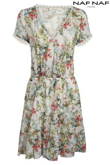 NafNaf Graphic Flower Skater Dress