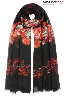Alice Hannah Floral Print Woven Scarf