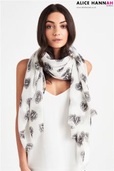 Alice Hannah Love Bird Print Scarf