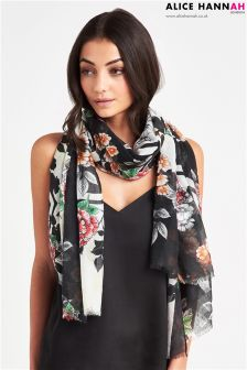 Alice Hannah Blod Bloom Print Scarf