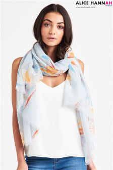 Alice Hannah Stained Glass Butterfly Print Scarf