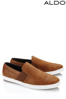 Aldo Brown Slip On Trainers