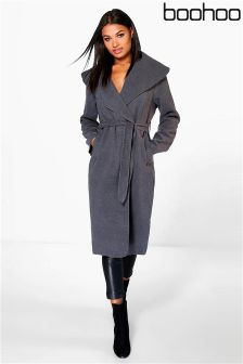Boohoo Shawl Collar Coat