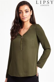 Lipsy Zip Front Blouse