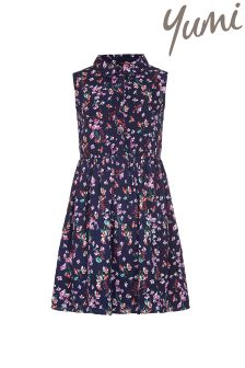 Yumi Girl Floral Sleeveless Shirt Dress