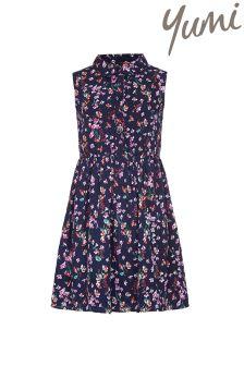 Yumi Girl Floral Sleeveless Shirt Dress
