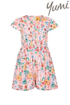 Yumi Girl Tropical Floral Playsuit
