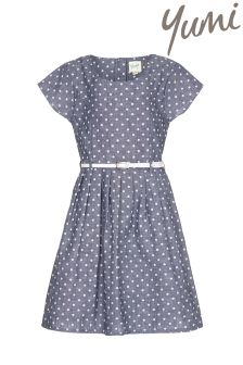 Yumi Girl Spot Belt Dress