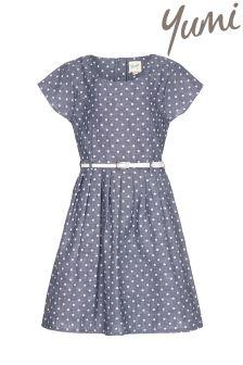 Yumi Girl Spot Belt Dress