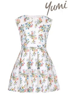 Yumi Girl Floral Butterfly Skater Dress