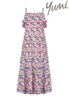 Yumi Girl Butterfly Frill Maxi Dress
