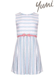 Yumi Girl Stripe Belted Dress