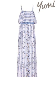 Yumi Girl Floral Belted Maxi Dress
