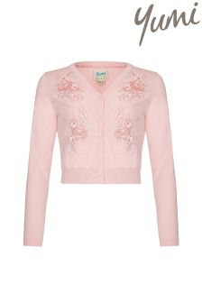 Yumi Girl Embellished Crop Cardigan