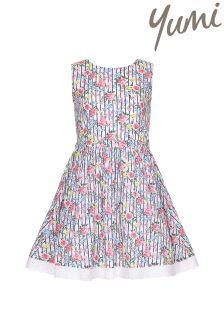 Yumi Girl Floral Stripe Party Dress