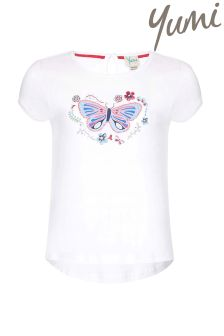 Yumi Girl Butterfly Embellished T-Shirt