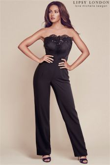 Lipsy Love Michelle Keegan Sequin Top Bandeau Jumpsuit