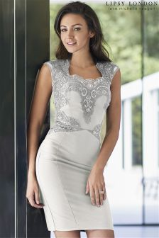Lipsy Love Michelle Keegan Sequin Top Detail Bodycon Dress